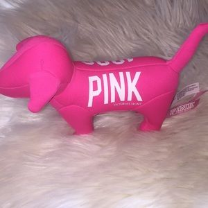 PINK collectible dog from VS hot pink 1986